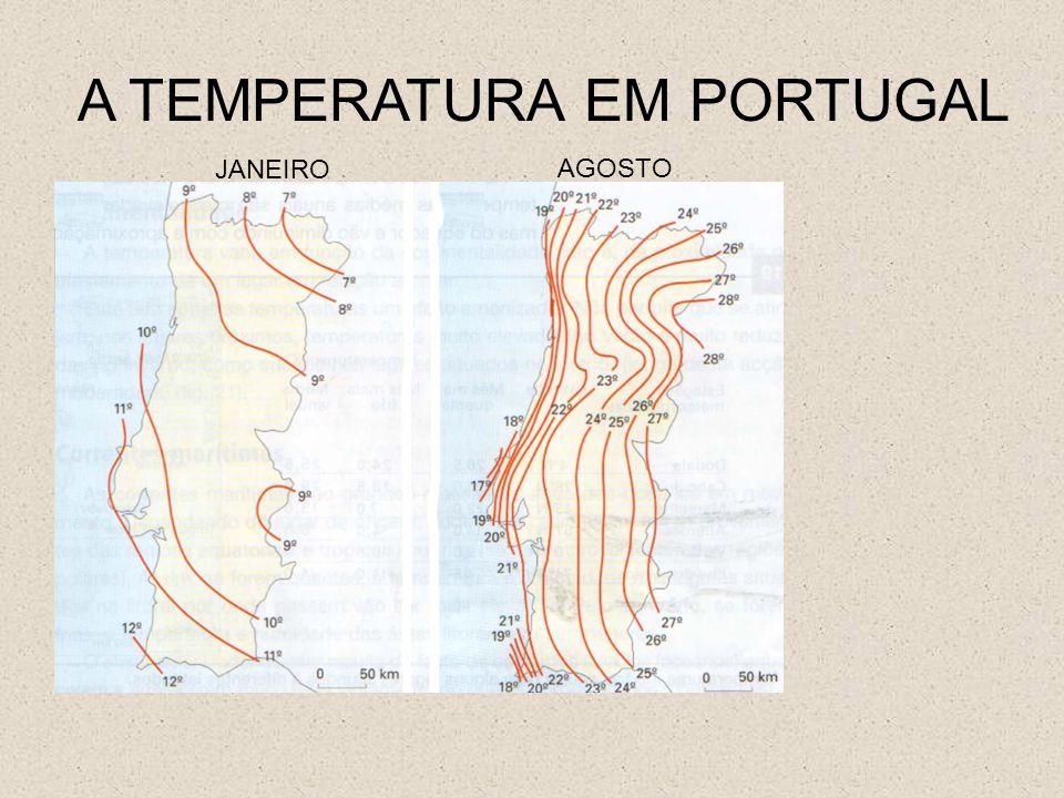 A TEMPERATURA EM PORTUGAL