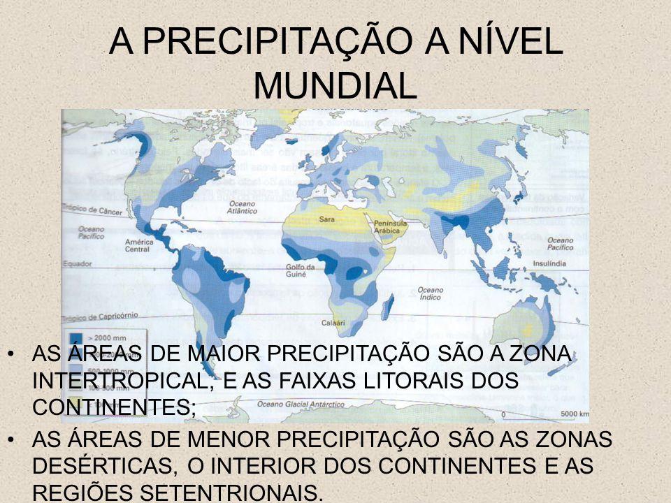 A PRECIPITAÇÃO A NÍVEL MUNDIAL