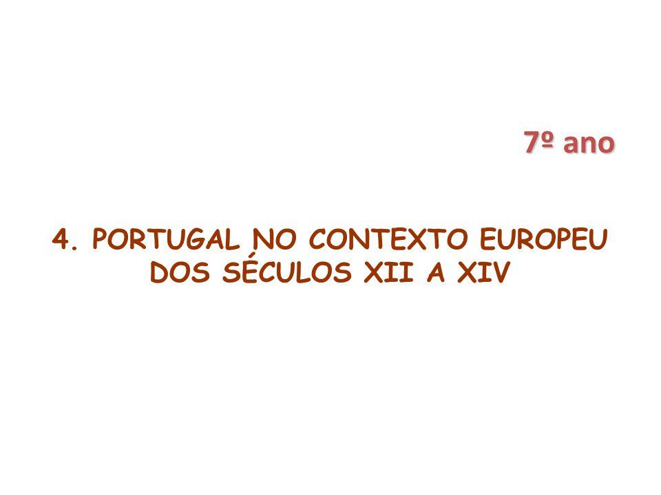 4. PORTUGAL NO CONTEXTO EUROPEU DOS SÉCULOS XII A XIV