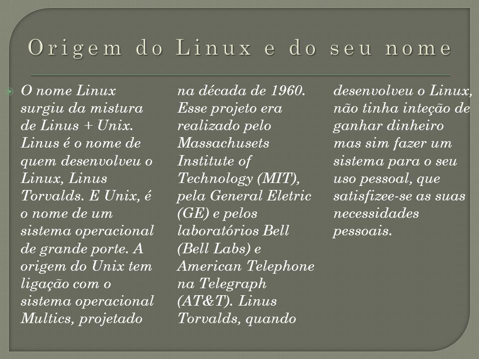 Origem do Linux e do seu nome