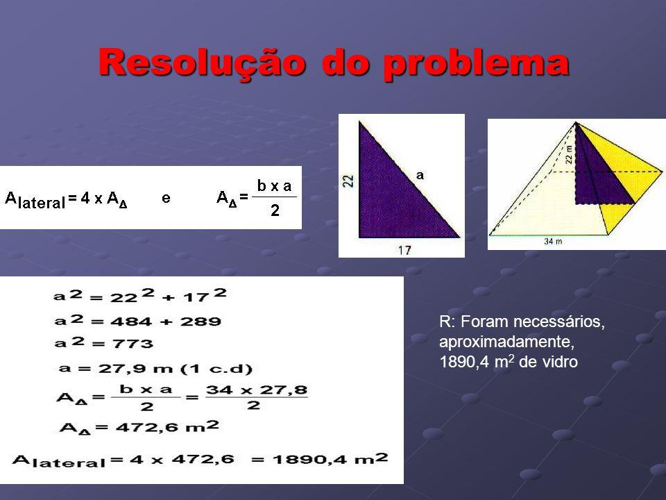 Resolução do problema R: Foram necessários, aproximadamente,