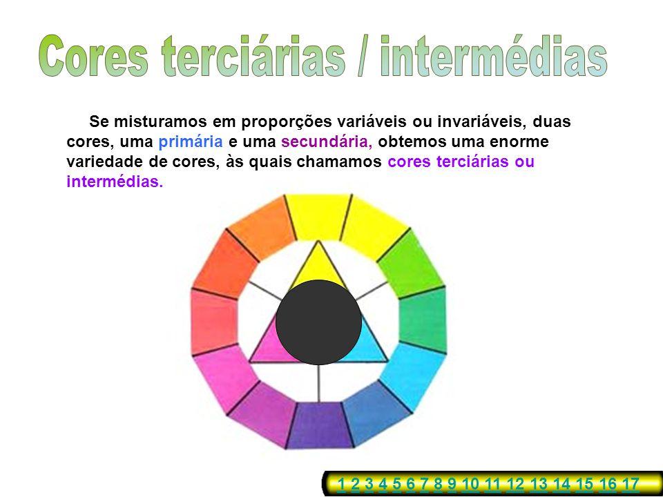 Cores terciárias / intermédias