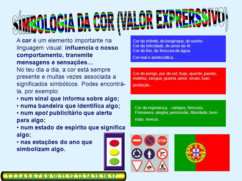 SÍMBOLOGIA DA COR (VALOR EXPRERSSIVO)