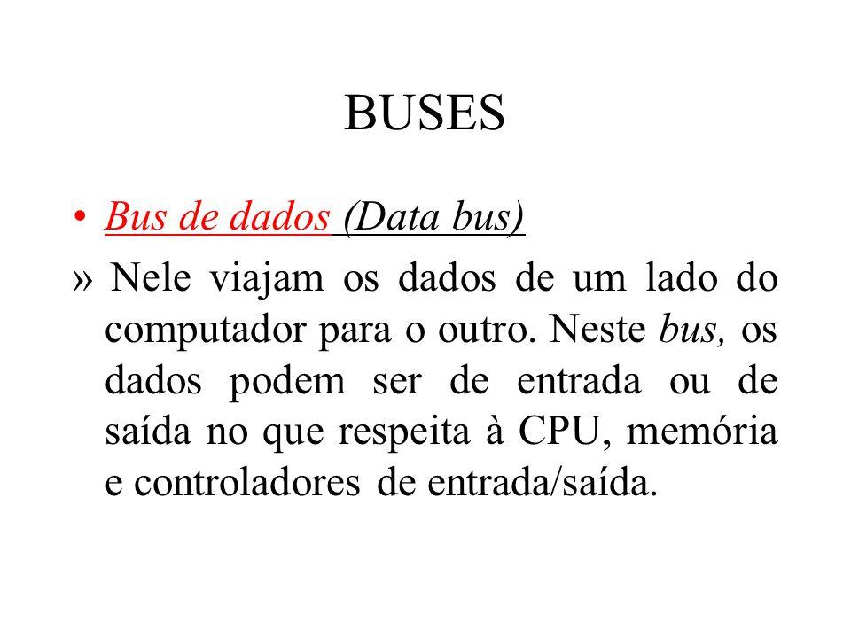 BUSES Bus de dados (Data bus)