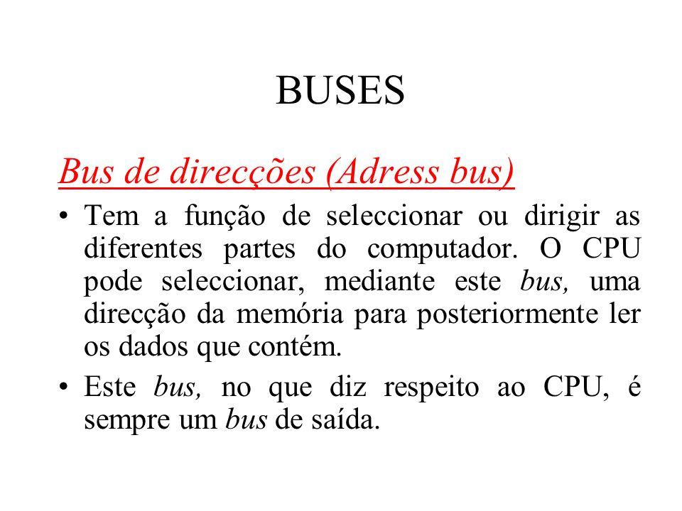 BUSES Bus de direcções (Adress bus)