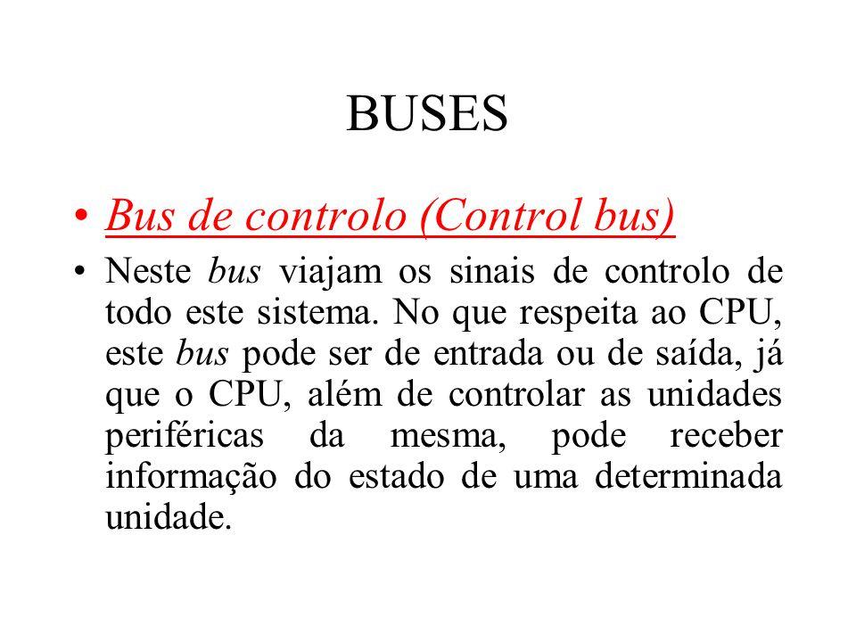 BUSES Bus de controlo (Control bus)