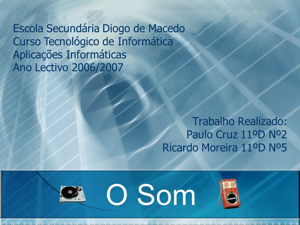 Trabalho Realizado: Paulo Cruz 11ºD Nº2 Ricardo Moreira 11ºD Nº5