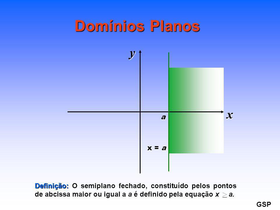 Domínios Planos y x a x = a