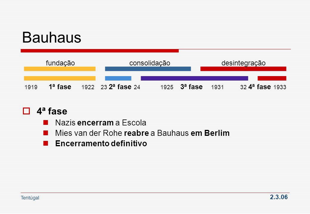Bauhaus 4ª fase Nazis encerram a Escola