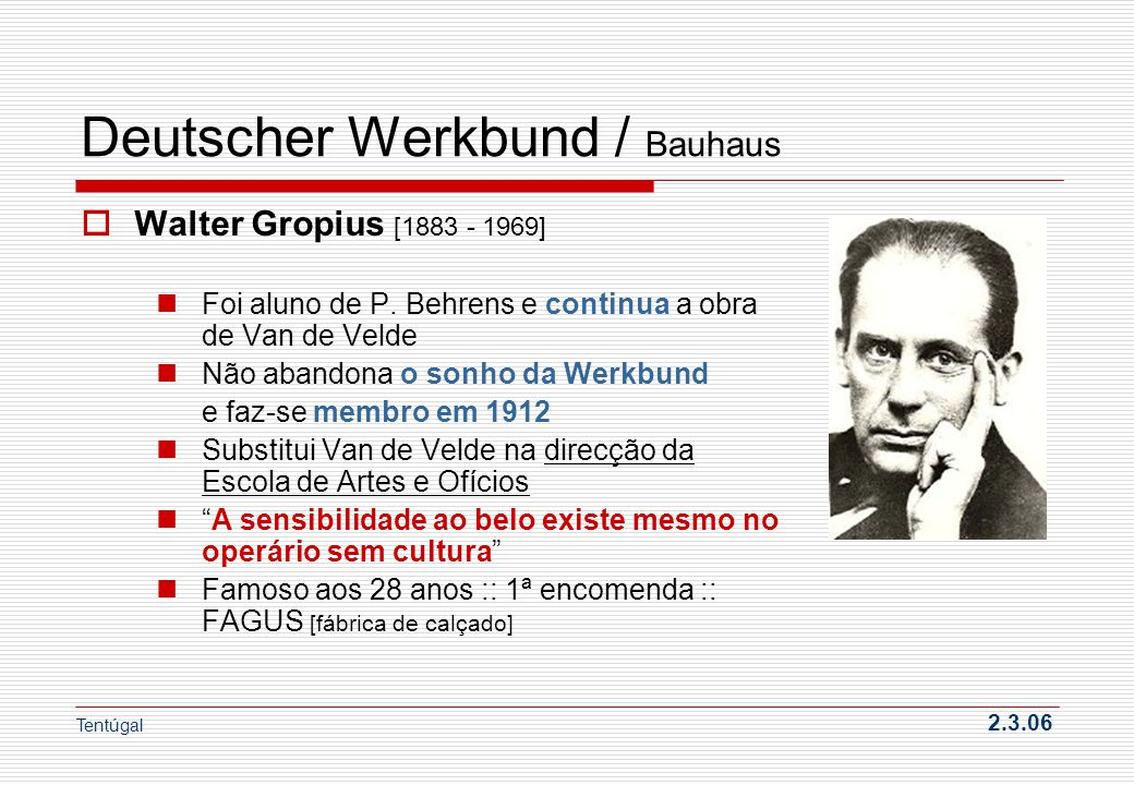 Deutscher Werkbund / Bauhaus