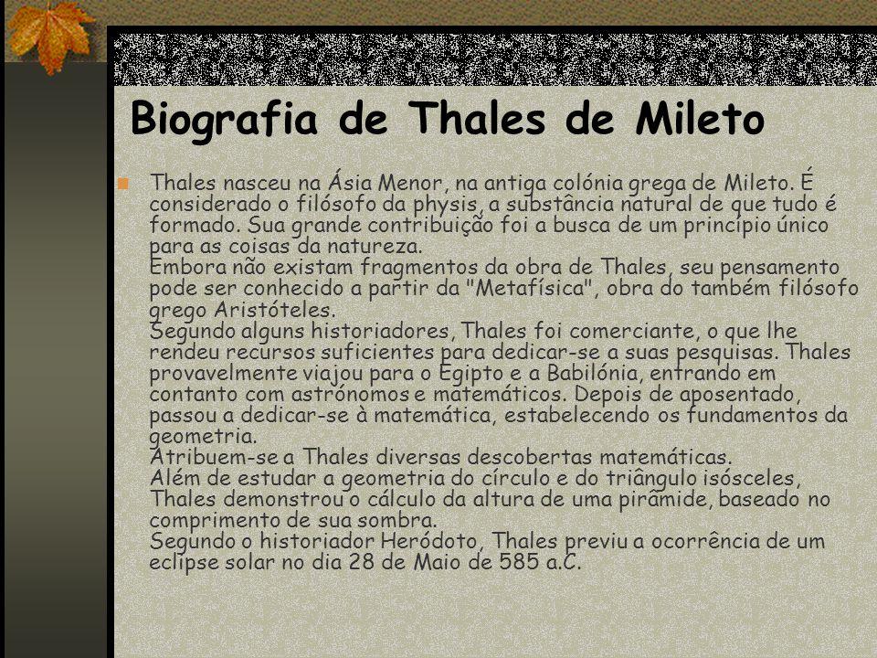 Biografia de Thales de Mileto