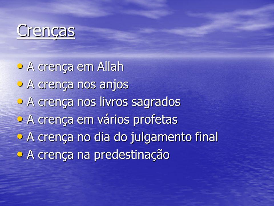 Crenças A crença em Allah A crença nos anjos