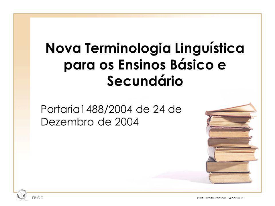 Nova Terminologia Linguística para os Ensinos Básico e Secundário