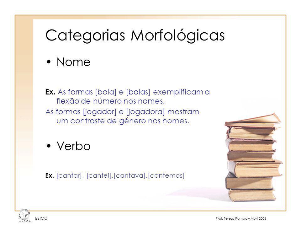 Categorias Morfológicas