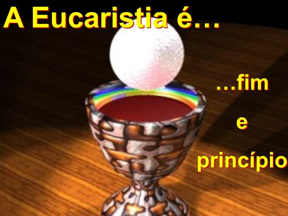 A Eucaristia é… …fim e princípio