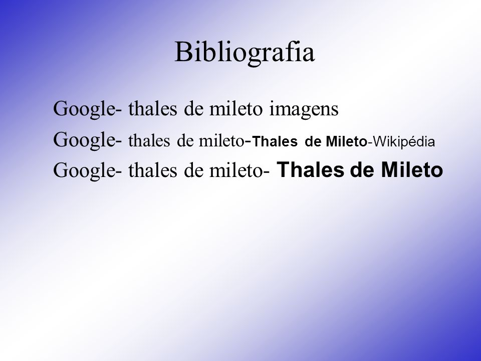 Bibliografia Google- thales de mileto imagens