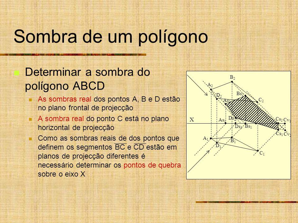 Sombra de um polígono Determinar a sombra do polígono ABCD