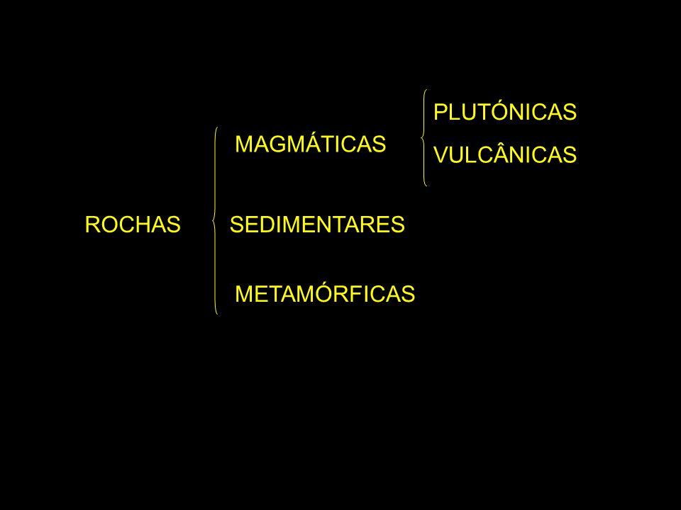 PLUTÓNICAS MAGMÁTICAS VULCÂNICAS ROCHAS SEDIMENTARES METAMÓRFICAS