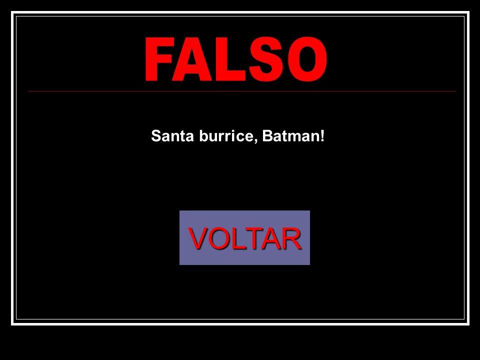 FALSO Santa burrice, Batman! VOLTAR