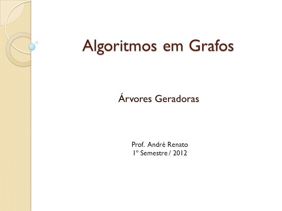 Algoritmos em Grafos Árvores Geradoras Prof. André Renato