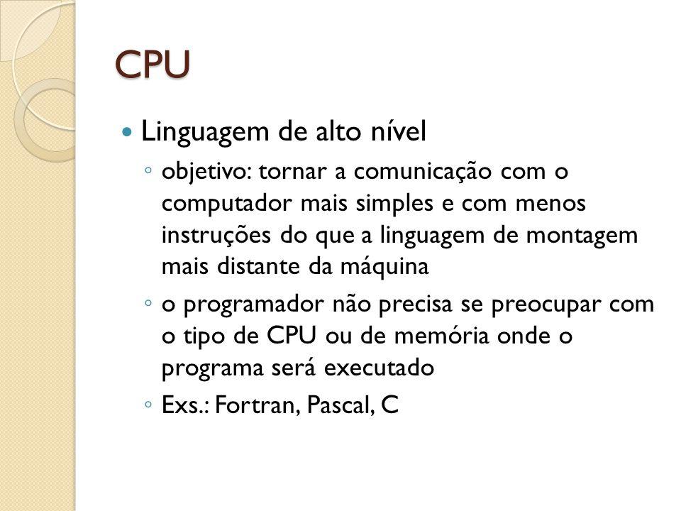 CPU Linguagem de alto nível