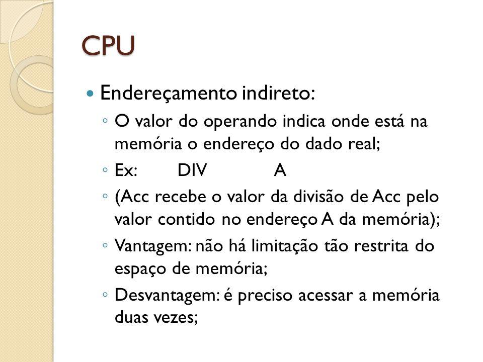CPU Endereçamento indireto: