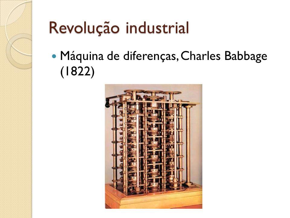 Revolução industrial Máquina de diferenças, Charles Babbage (1822)