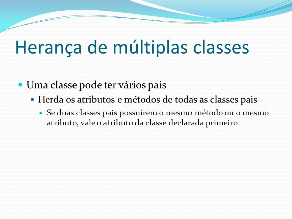 Herança de múltiplas classes