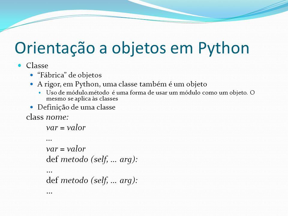 Orientação a objetos em Python