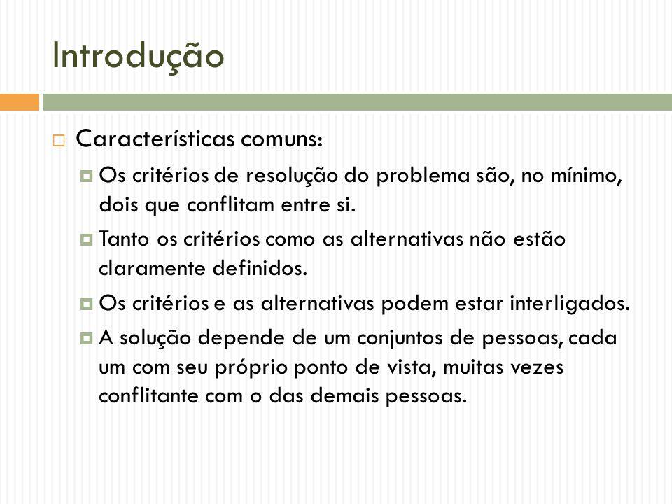 Introdução Características comuns: