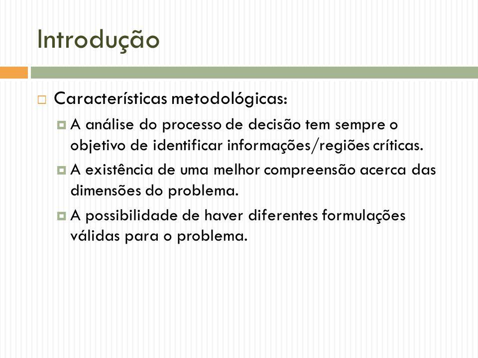 Introdução Características metodológicas: