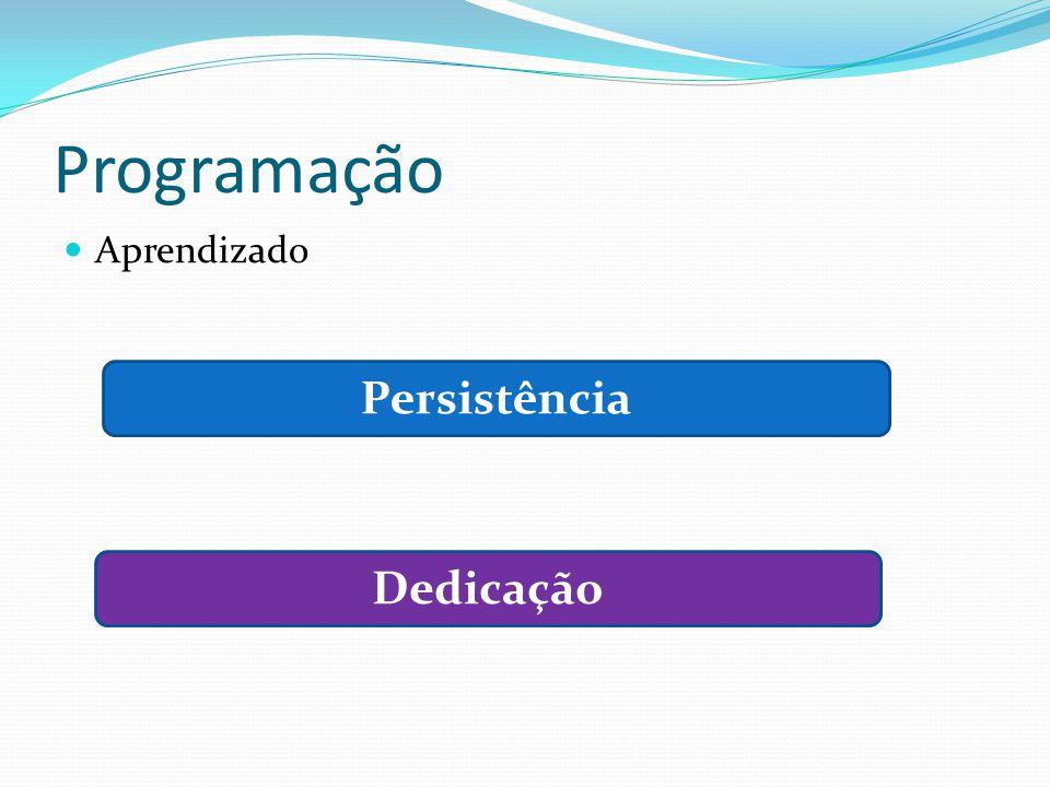 Programação Aprendizado Persistência Dedicação