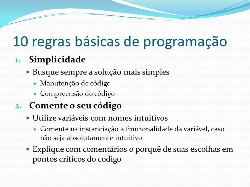 10 regras básicas de programação