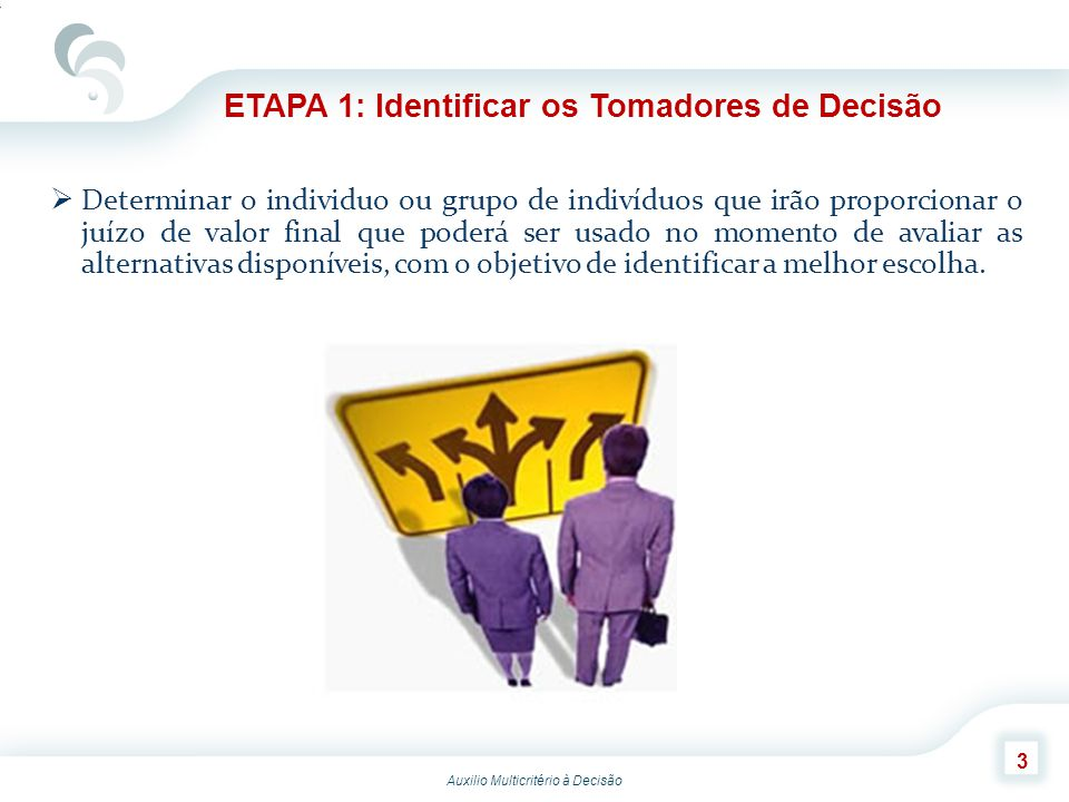 ETAPA 1: Identificar os Tomadores de Decisão