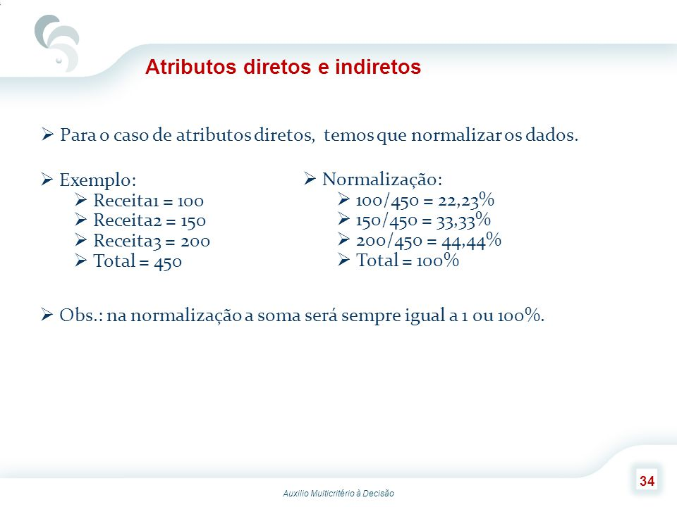 Atributos diretos e indiretos