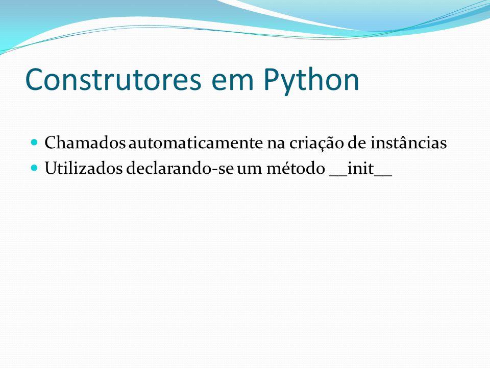 Construtores em Python
