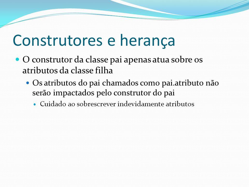 Construtores e herança