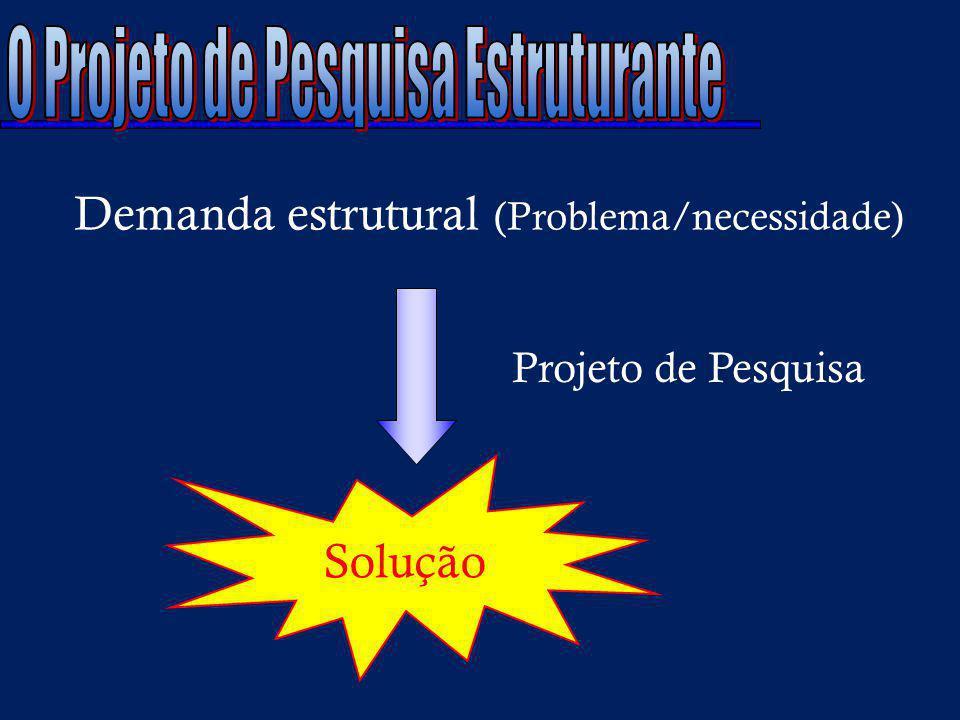 O Projeto de Pesquisa Estruturante