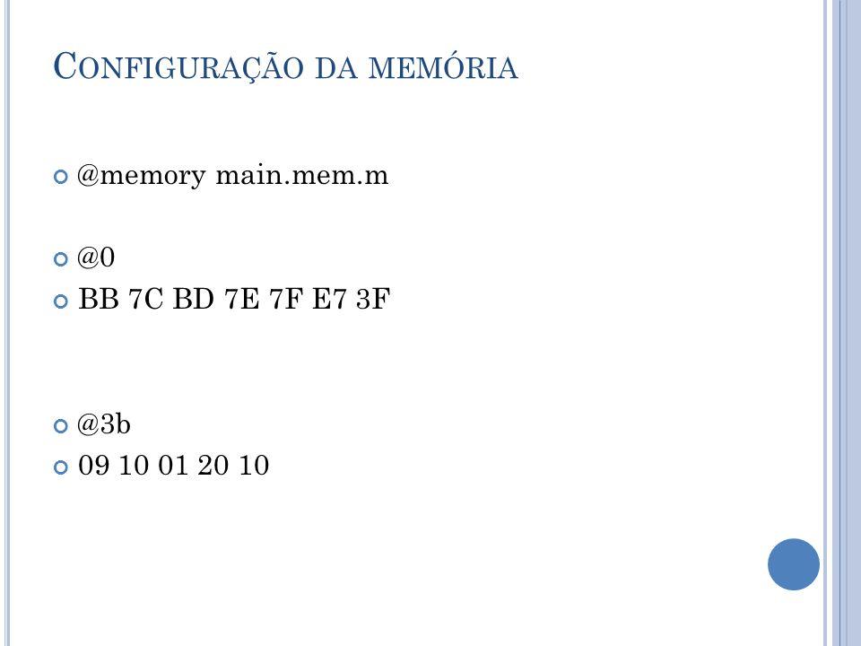 Configuração da memória