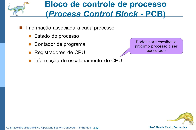 Bloco de controle de processo (Process Control Block - PCB)