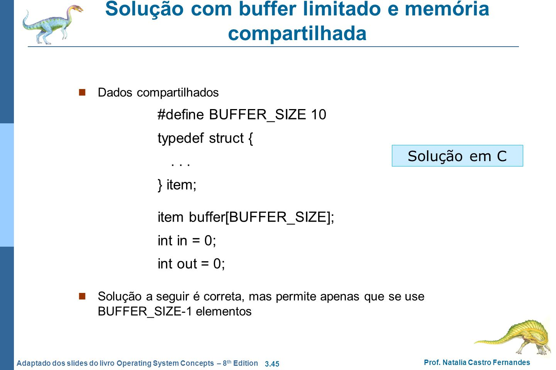 Solução com buffer limitado e memória compartilhada