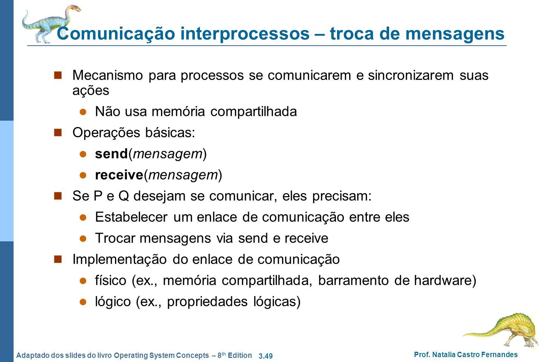 Comunicação interprocessos – troca de mensagens