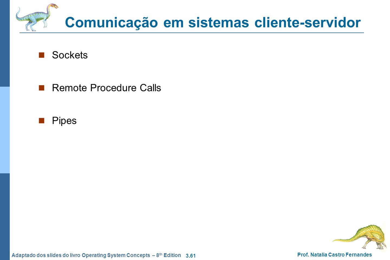 Comunicação em sistemas cliente-servidor