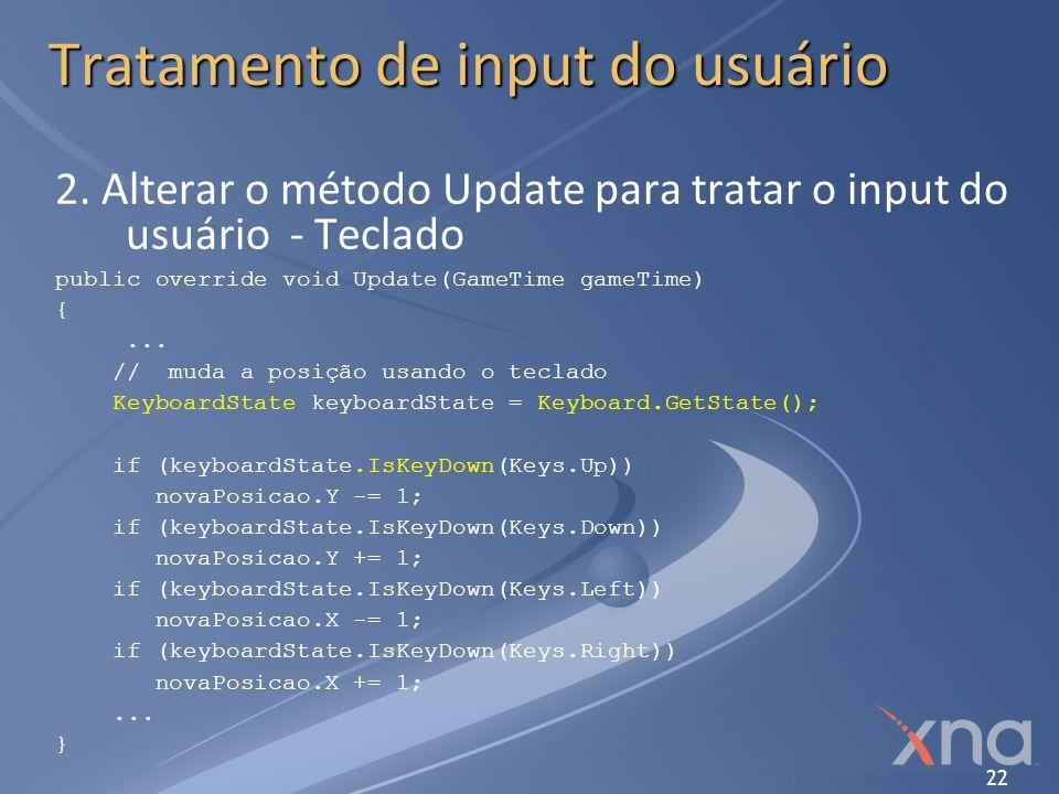 Tratamento de input do usuário