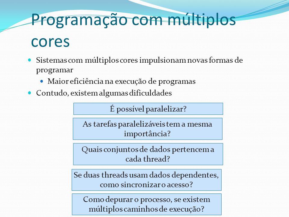 Programação com múltiplos cores