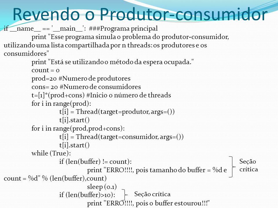 Revendo o Produtor-consumidor