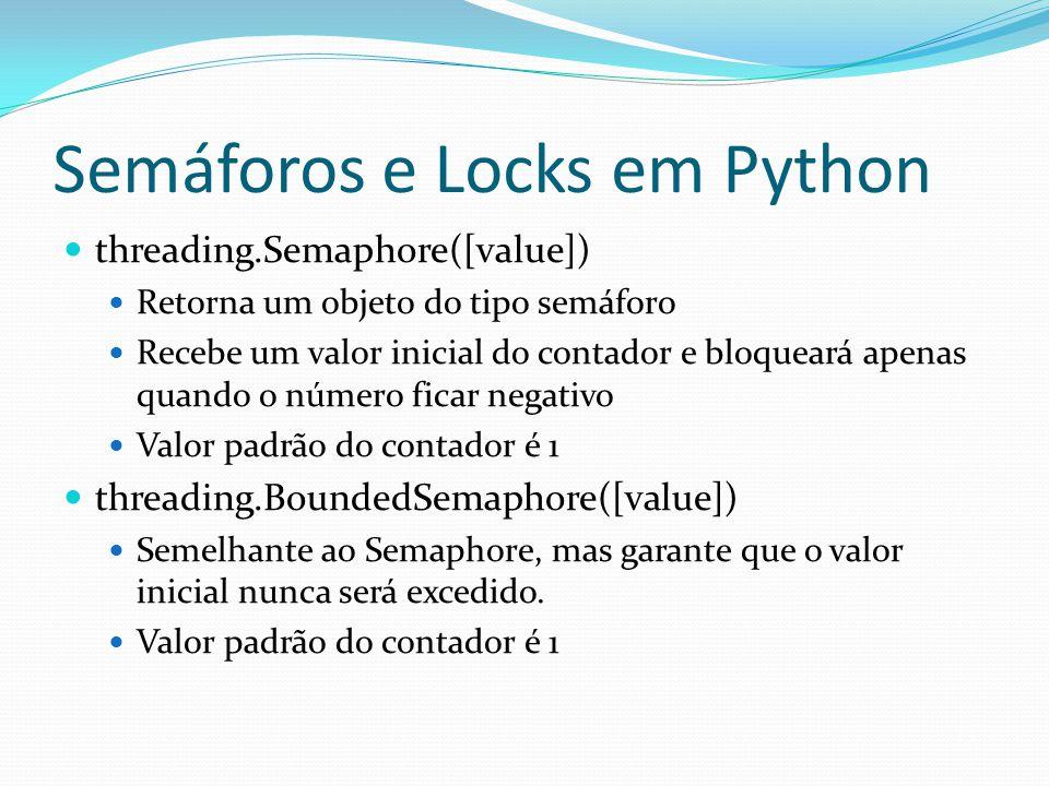 Semáforos e Locks em Python