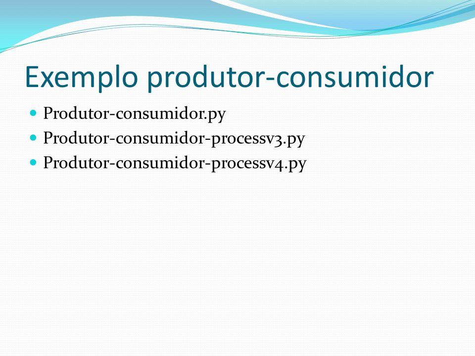 Exemplo produtor-consumidor