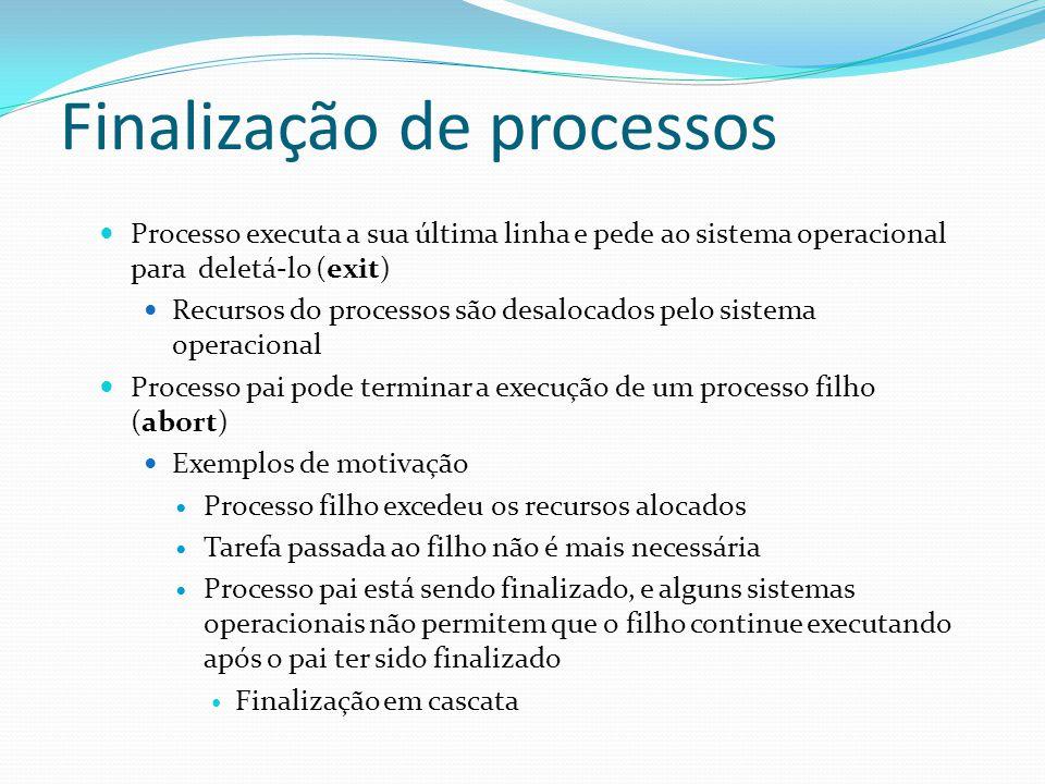Finalização de processos