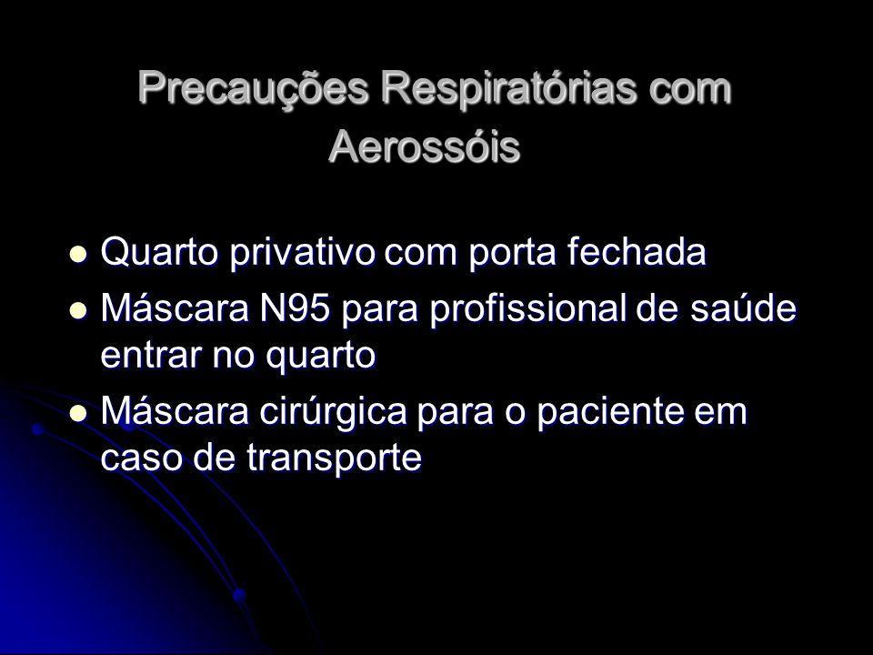 Precauções Respiratórias com Aerossóis